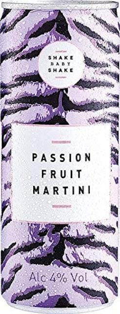 Shake Baby Shake Passion Fruit Martini Cans 1