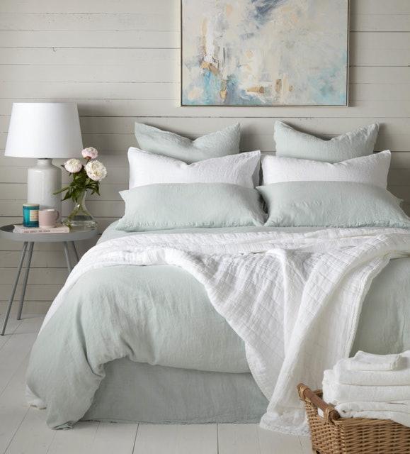 Secret Linen Duck Egg 100% Linen Bed Linen 1