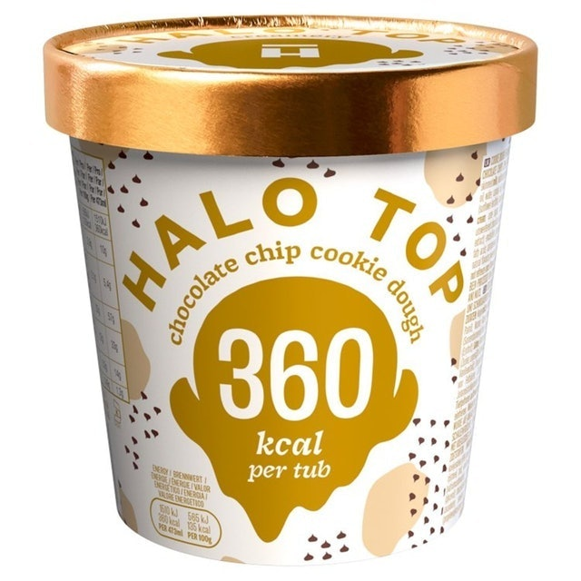Halo Top Chocolate Chip Cookie Dough Low Calorie Ice Cream 1