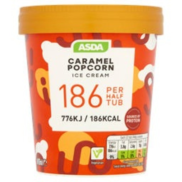 Asda Caramel Popcorn Ice Cream 1