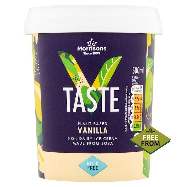 Morrisons V Taste Free From Vanilla Ice Cream 1