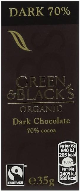 Green & Black's Organic 70% Dark Chocolate Bar 1