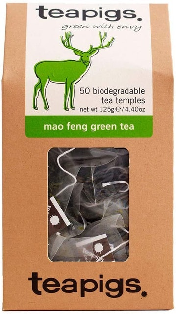 Teapigs Mao Feng Green Tea Bags Made with Whole Leaves 1