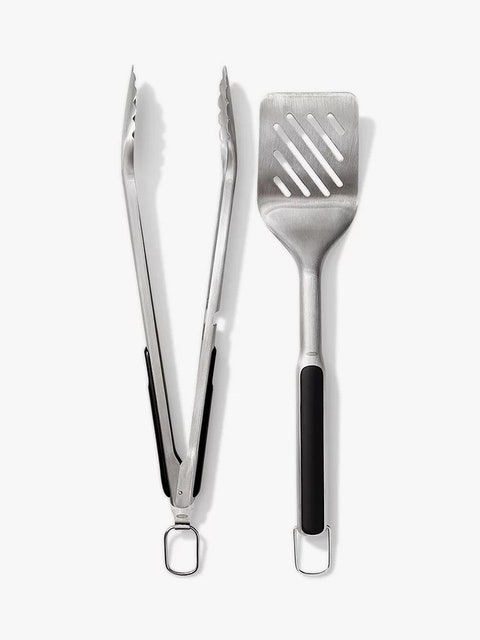 Oxo Good Grips Stainless Steel BBQ Turner & Tongs 1