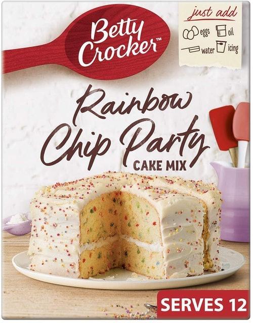 Betty Crocker Rainbow Chip Party Cake Mix 1