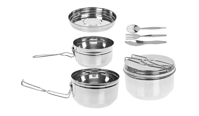Summit Stainless Steel Tiffin Camping Cook Set 1