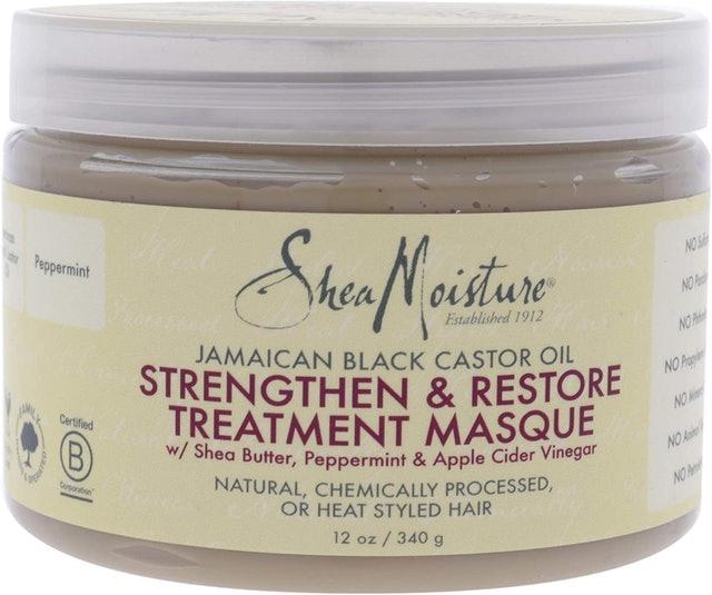 Shea Moisture Jamaican Black Castor Oil Strengthen Grow and Restore Treatment Masque 1