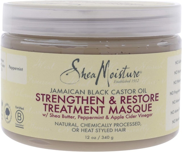 Shea Moisture Jamaican Black Castor Oil Strengthen Grow and Restore Treatment Masque 1