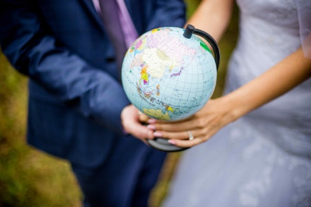 A Wedding Guest Globe Is Ideal for Couples Who Love Adventure
