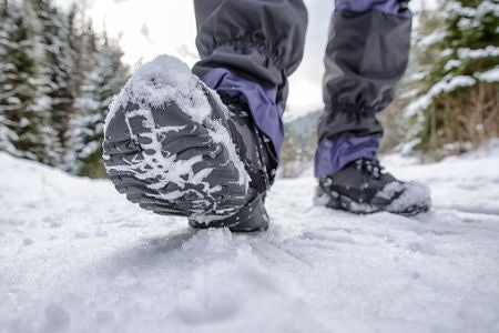 A Sturdy Rubber Sole Will Get You Through Icy Conditions