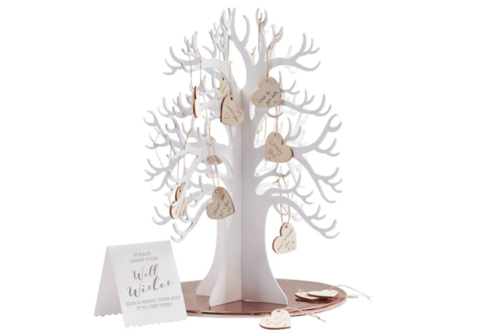 A Wishing Tree Guest Book Makes a Beautiful Talking Point