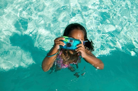 Look for Waterproofing for Pool-Side and Underwater Shots
