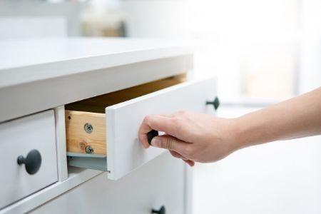 Drawers Allow You to Conceal Clutter