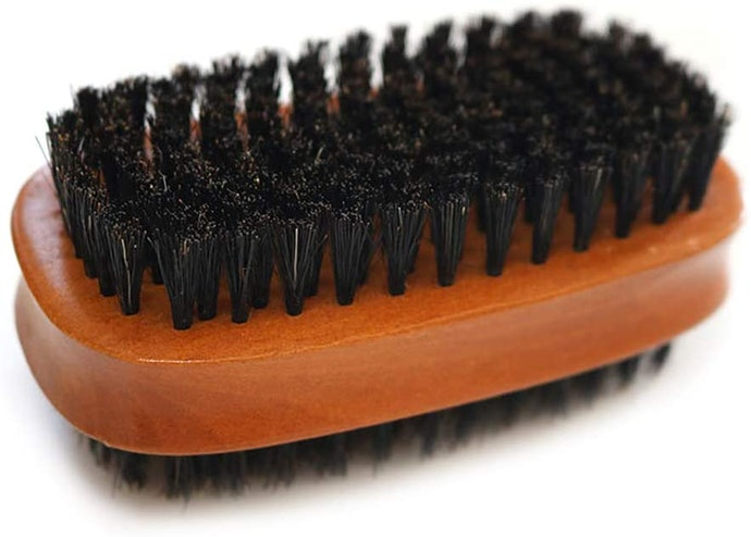 Get a Pig Bristle Brush for Removal of Dirt on Leather, Mesh, and Canvas Shoes