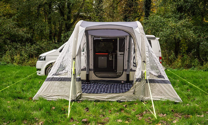 If You're Thinking of Sleeping in the Awning, Then a Sewn-in Ground Sheet Is Best