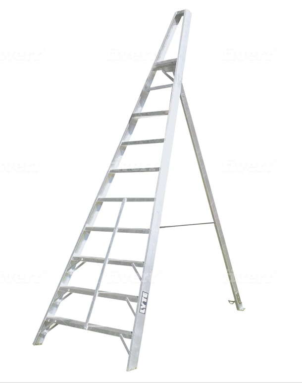 A Tripod Step Ladder Is Ideal for Outdoor Use