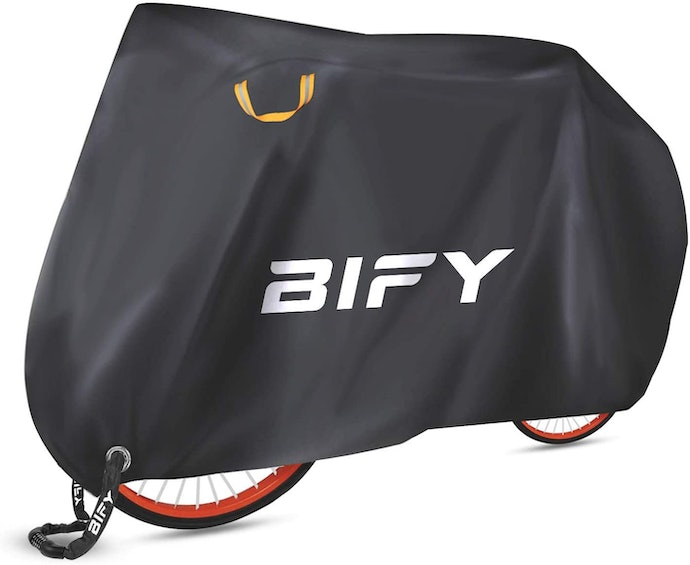 Reflective Loops Help to Position a Bike Cover While Keeping an Eye at Night