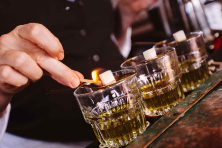Absinthe Is Known for Its High Alcohol Percentage