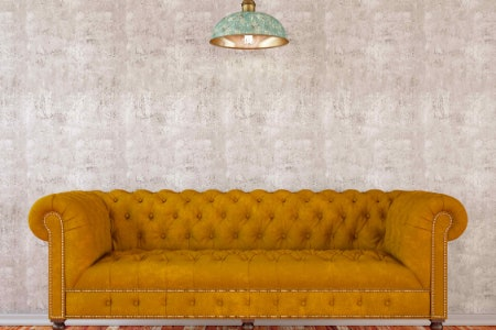 The Chesterfield Is Ideal for a Couple to Cuddle on
