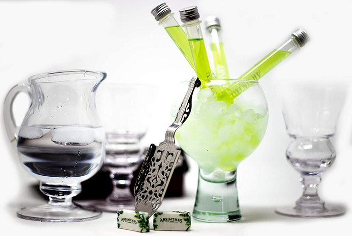If You're Floating the Absinthe Idea, Opt for a Tube to Test the Waters