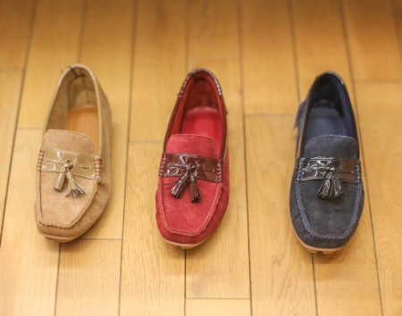 Driving Shoes Can Be Made From Leather, Suede or a Synthetic Fabric