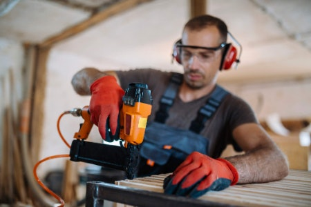 Compressed Air Nail Guns Are Cheap and Powerful but Require an Air Compressor