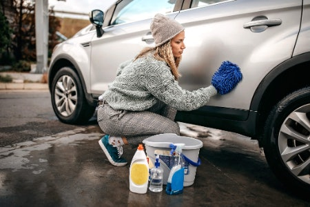 Check for Extra Cleaners to Tackle Areas Like Windows and Wheels