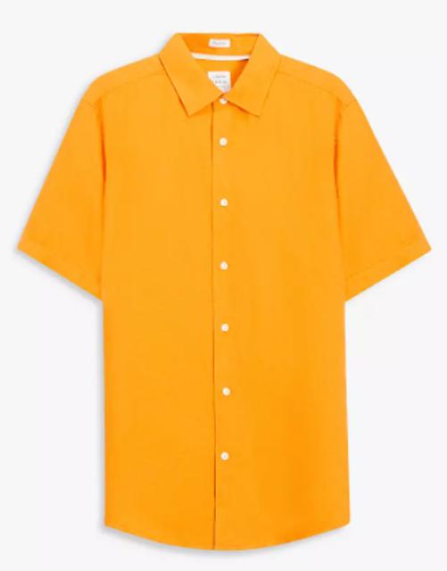 John Lewis & Partners Regular Fit Short Sleeve Linen Shirt 1