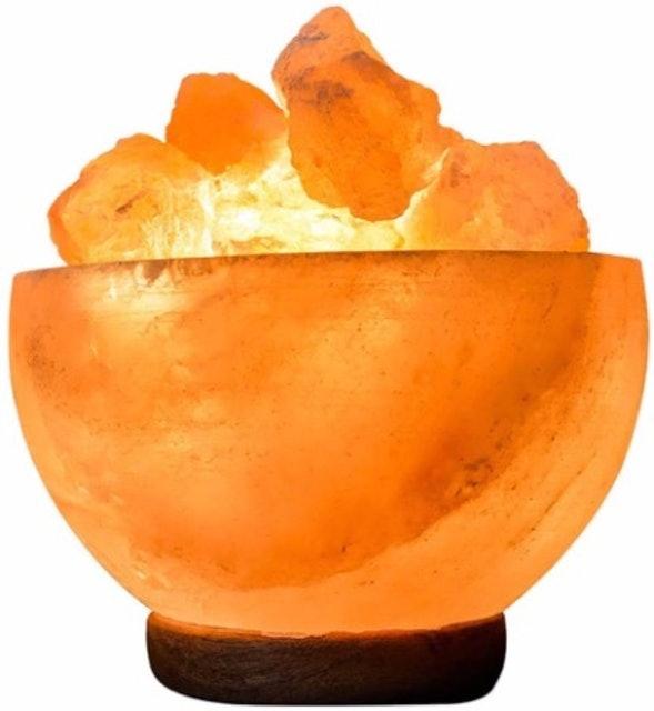SourceDIY 6″ Himalayan Salt Fire Bowl 1
