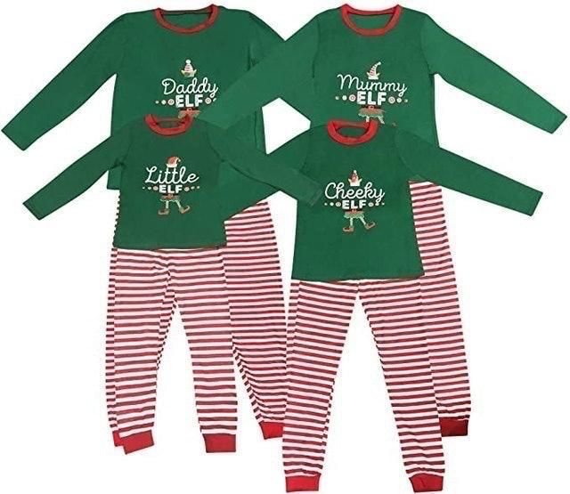 Live It Style It Elf Family Pyjamas Matching Set 1