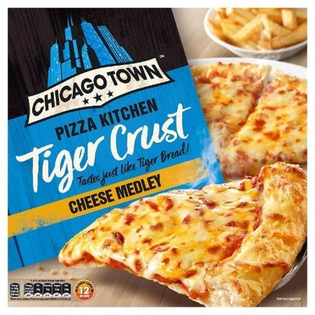 Chicago Town  Pizza Kitchen Cheese Medley on a Tiger Crust 1