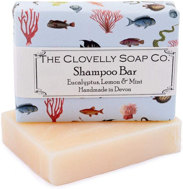 The Clovelly Soap Co.  Shampoo Bar: Eucalyptus, Lemon & Mint 1