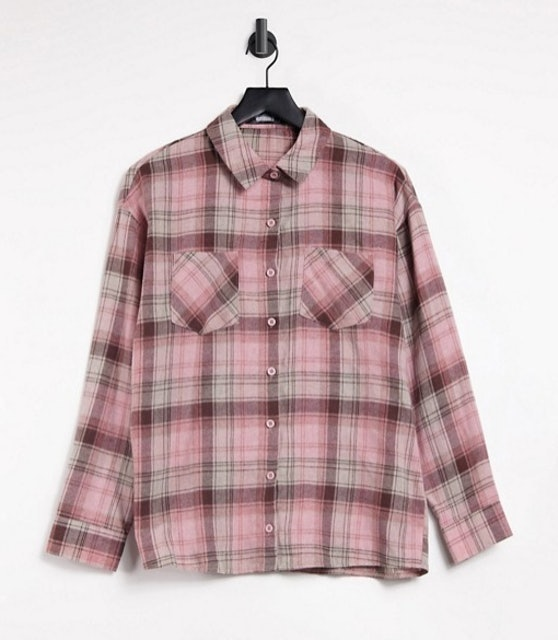 Missguided Oversized Shirt in Pink 1
