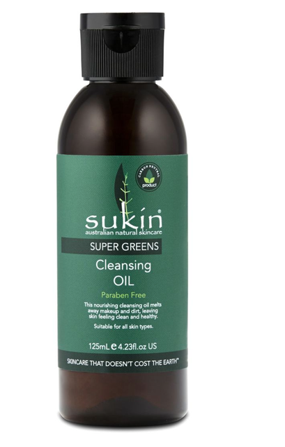 Sukin Super Greens Detoxifying Cleansing Oil 1