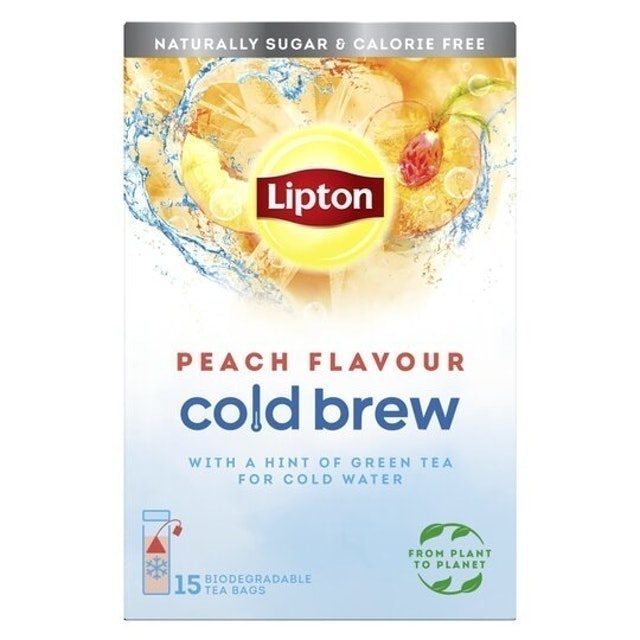Lipton Cold Brew Peach Flavour Teabags 1