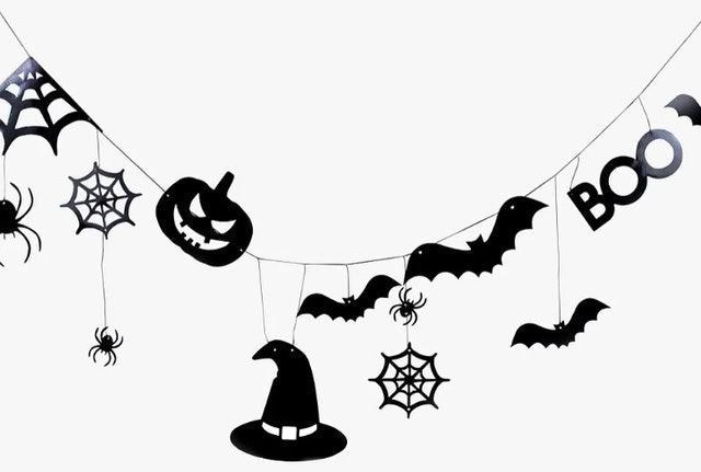 Ginger Ray Halloween Bat Bunting 1