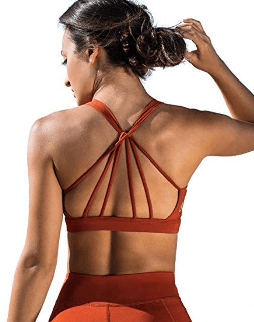 Icyzone  Padded Strappy Moisture Wicking Sports Bra 1