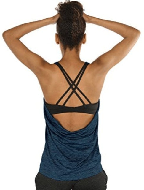 Icyzone  Women's Yoga Tank Top With Built-In Bra 1