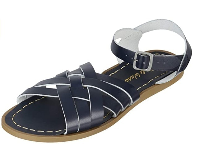 Salt-Water Retro Waterproof Leather Sandals - Navy 1