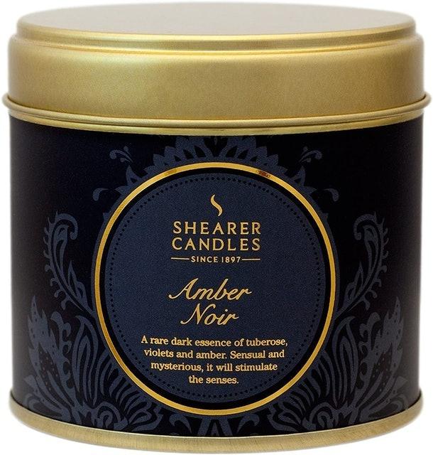 Shearer Amber Noir Large Candle Tin 1