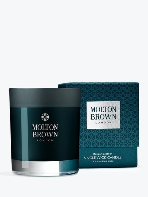 Molton Brown Russian Leather Single Wick Scented Candle 1