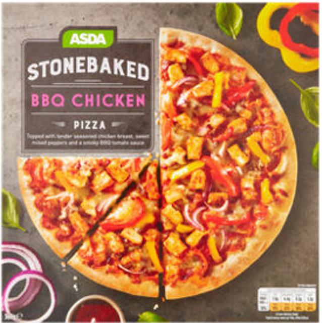 ASDA Stonebaked BBQ Chicken Pizza 1
