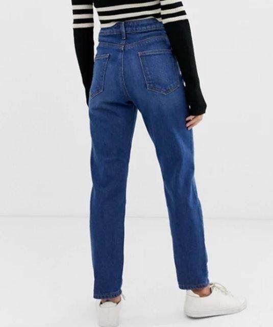 ASOS DESIGN Petite Recycled Farleigh Mom Jeans 1