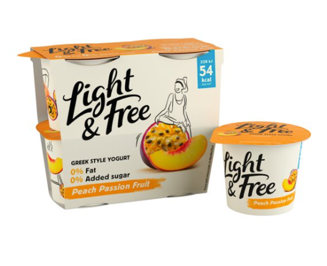 Danone Light & Free Greek Style Peach Passion Fruit Yogurt 1