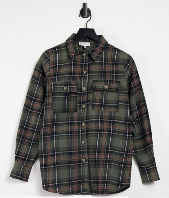 In The Style Check Shirt in Green 1