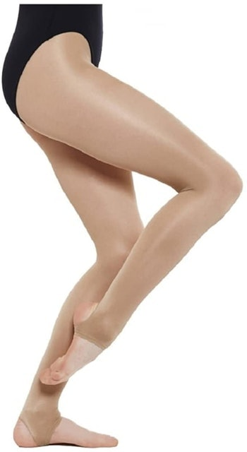 Silky Dance Shimmer Stirrup Tights 1