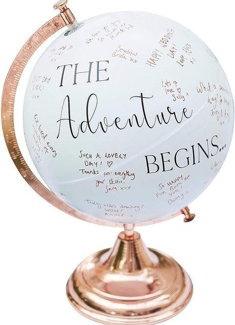 Ginger Ray Botanical Wedding Alternative Style Globe Signing Guest Book 1