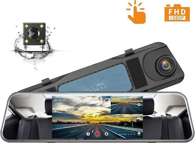 Campark Mirror Mounted Backup Camera and Dash Cam 1