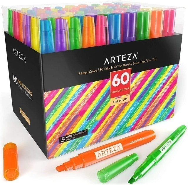 Arteza Colored Highlighters Markers 1