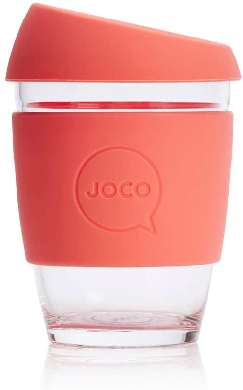 Beautiful JOCO glass & silicone reusable takeaway cups